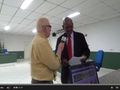 Presidente da Câmara de Vereadores de Ilhéus concede entrevista à Radio Baiana.